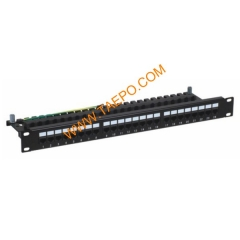 24-port CAT6 UTP patch panel