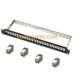 24-port CAT6A STP patch panel