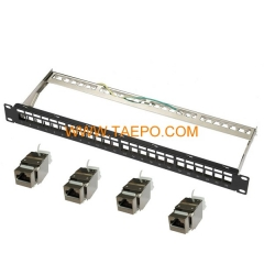24-port CAT6 STP patch panel