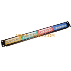24-port CAT6 UTP patch panel with color label