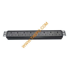 UK BS1363 standard 13A 250VAC 8 ways 1.5U PDU
