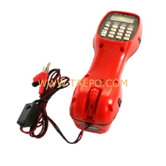Telephone line tester with LCD