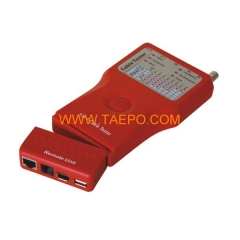 5-in-1 patch cable tester for RJ11/RJ45/BNC/USB/1394