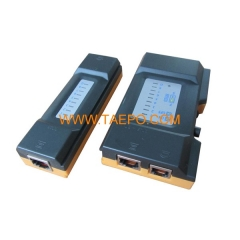 Mini patch cable tester for RJ11/RJ45
