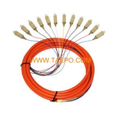 multimode 12 fibers SC/UPC Fiber optic fanout pigtail