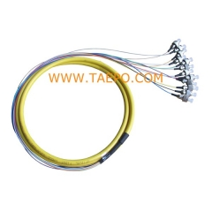 12 fibers FC/UPC Fiber optic fanout pigtail