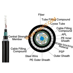 4 fibers GYTA53+33 singlemode 9/125um G.652D Stranded loose tube single-steel-wire armored cable